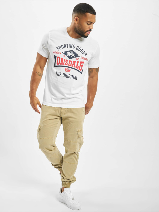 Lonsdale London T-Shirty Empingham bialy