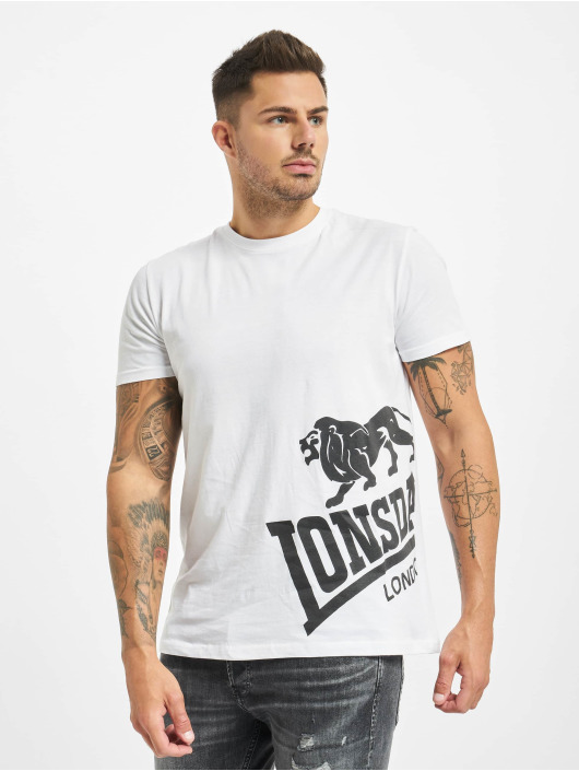 Lonsdale London T-Shirty Dereham bialy