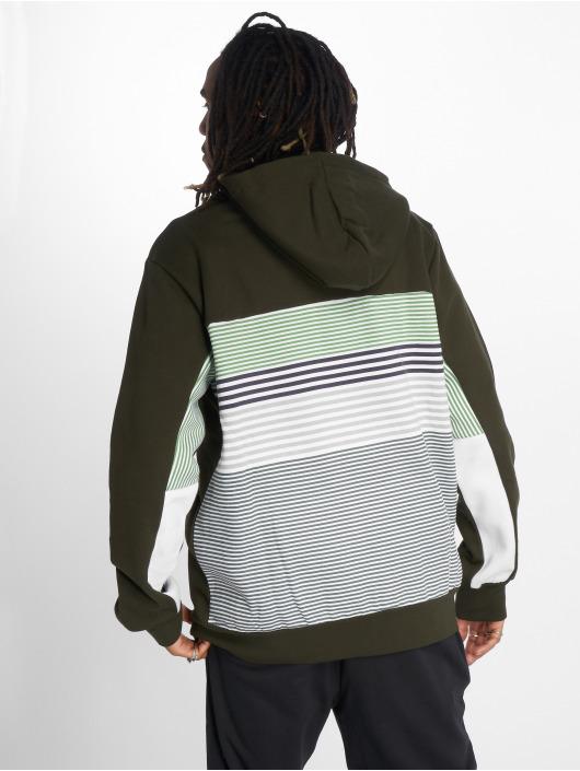 LRG Sweat capuche zippé Set In Stripe vert