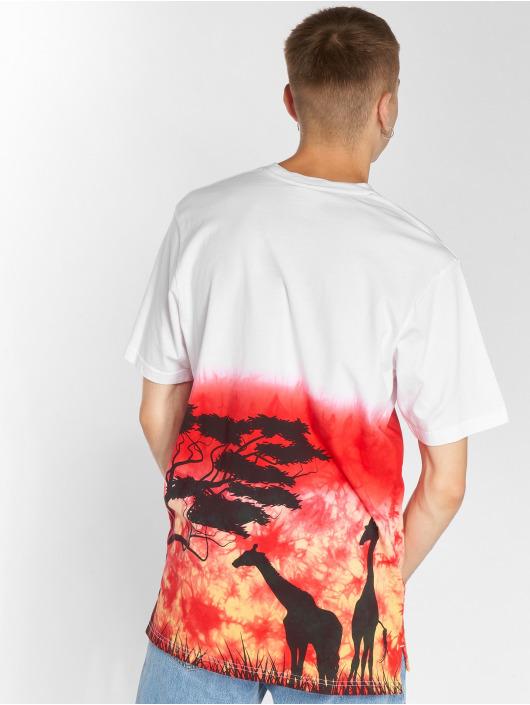 LRG T-Shirt Planet Tie Dye Knit rot