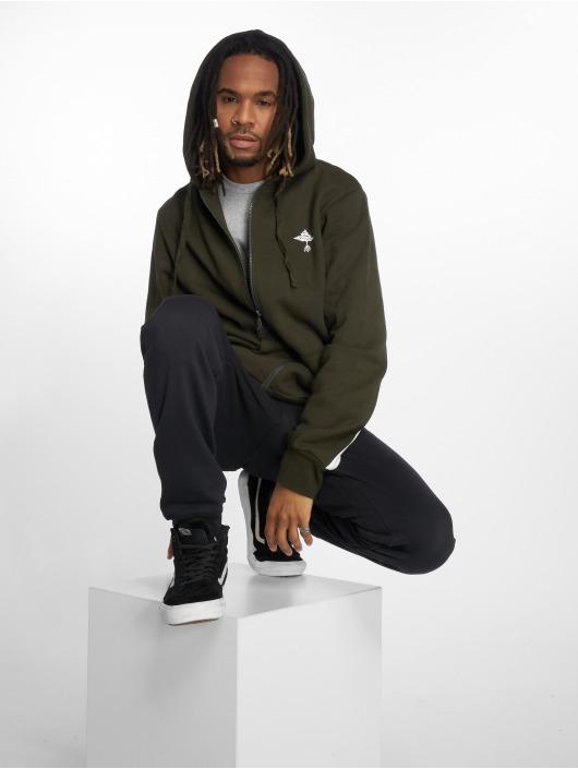 LRG Zip Hoodie Set In Stripe green