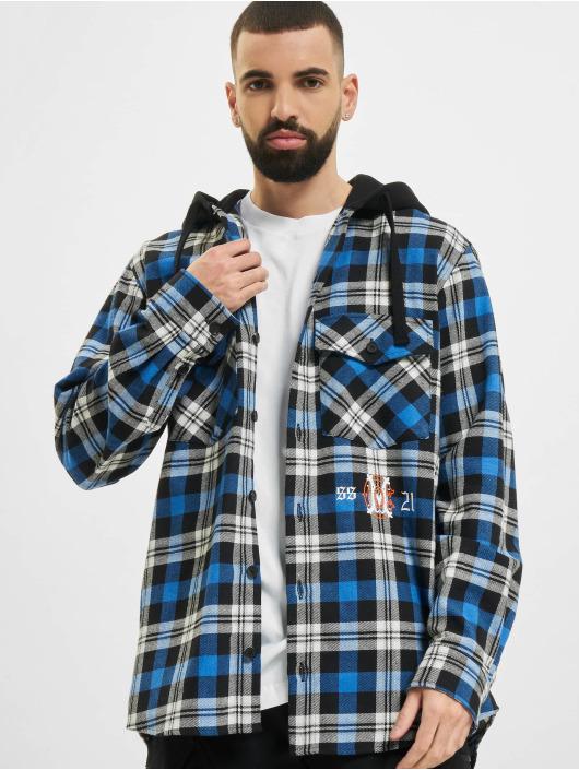 Marcelo Burlon Camicia Monogram Check Hoody nero