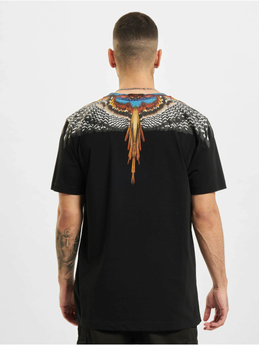 Marcelo Burlon Camiseta Grizzly Wings  Regular negro