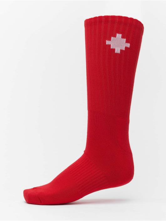 Marcelo Burlon Chaussettes Cross Sideway rouge