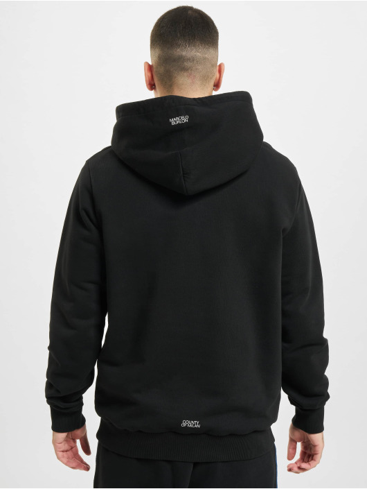 Marcelo Burlon Felpa con cappuccio Cross Regular nero