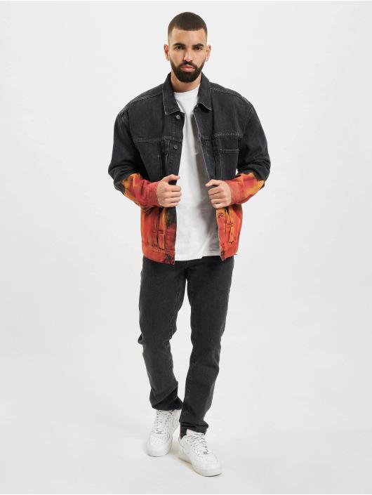 Marcelo Burlon Giacca Jeans Bleach Flame Pleat nero