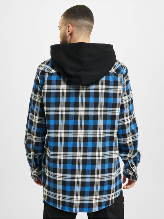 Marcelo Burlon overhemd Monogram Check Hoody zwart