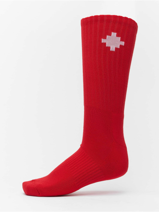 Marcelo Burlon Ponožky Cross Sideway èervená