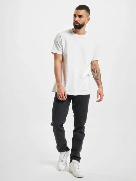 Marcelo Burlon Slim Fit Jeans Bleach Flames čern