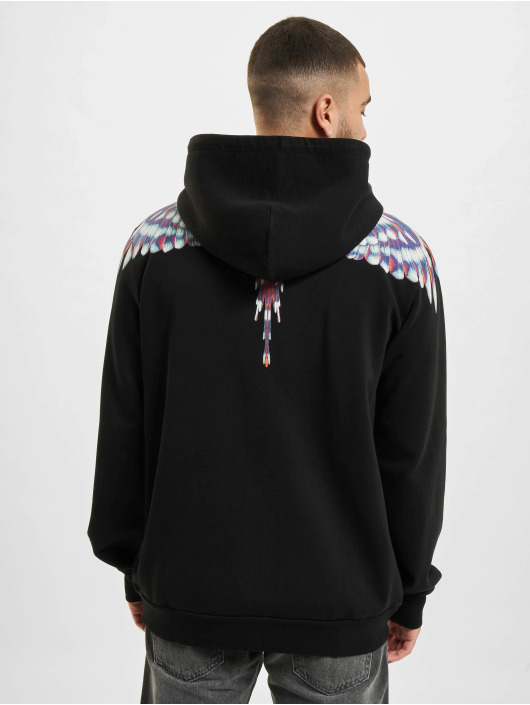 Marcelo Burlon Sweat capuche zippé Birds Wings Regular noir
