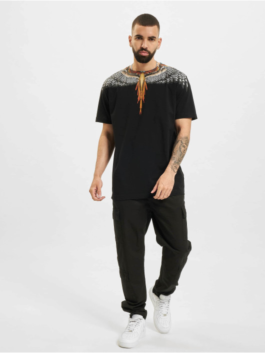 Marcelo Burlon T-shirt Grizzly Wings  Regular nero