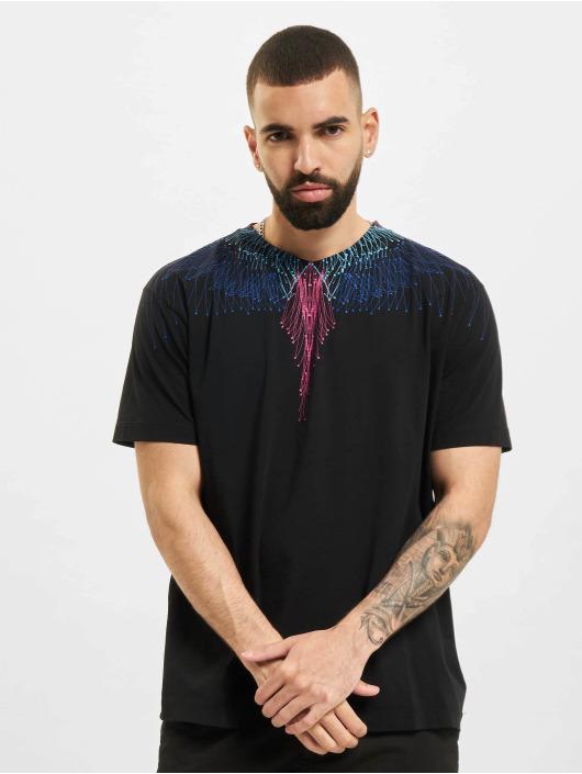 Marcelo Burlon T-skjorter Bezier Wings svart