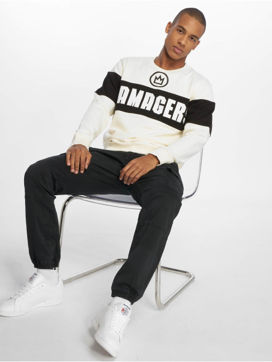 Maskulin Pullover High Contrast weiß