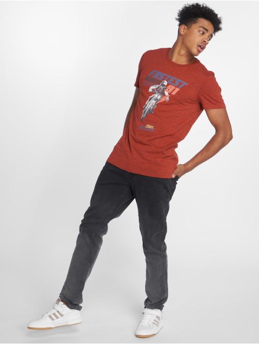 Mavi Jeans Tričká Fastest Printed èervená