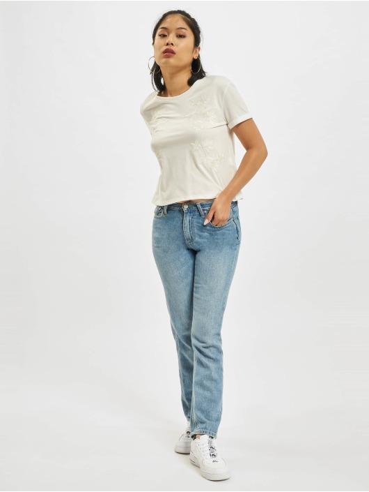 Mavi Jeans Tričká Embroidery biela