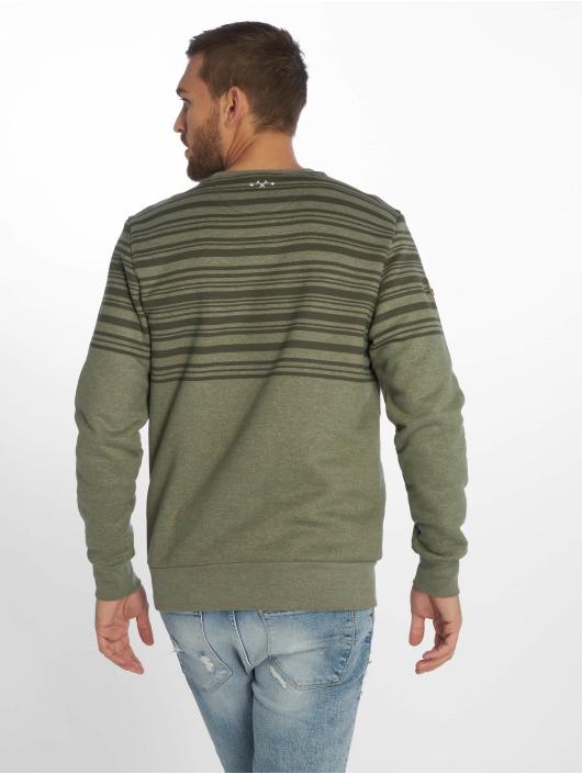 Mazine Pullover Mitcham Striped Heavey olive