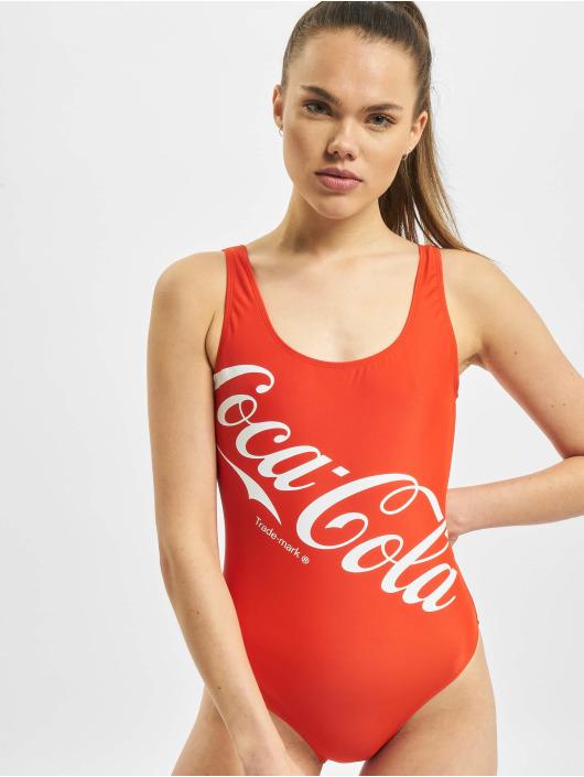 Merchcode Baddräkt Ladies Coca Cola Logo röd