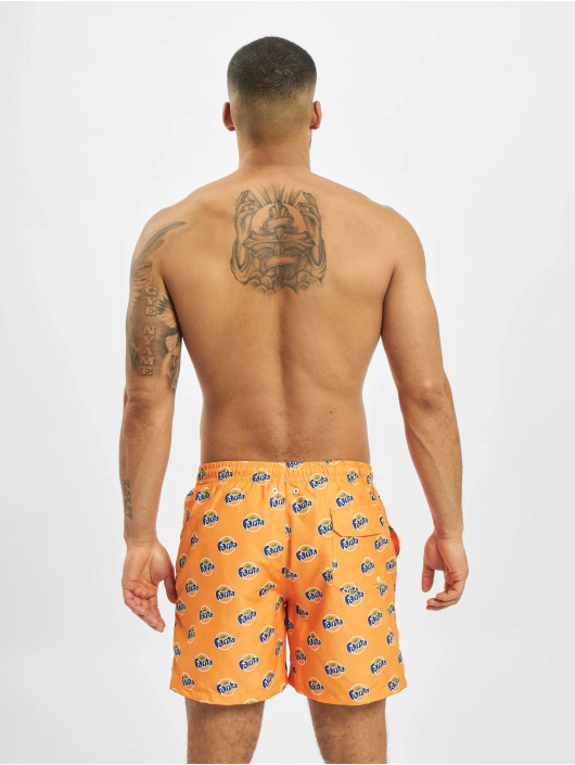 Merchcode Badeshorts Fanta Logo All Over Print oransje