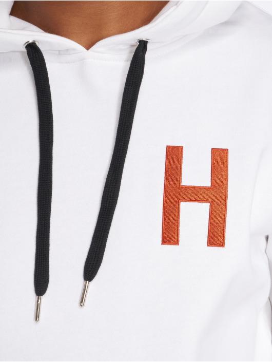 Merchcode Bluzy z kapturem Hustler Logo bialy