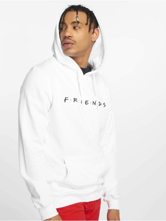 Merchcode Bluzy z kapturem Friends Logo Emb bialy