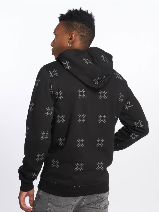 Merchcode Bluzy z kapturem Hustler AOP czarny