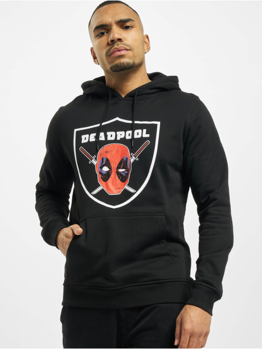 Merchcode Bluzy z kapturem Deadpool Raider czarny