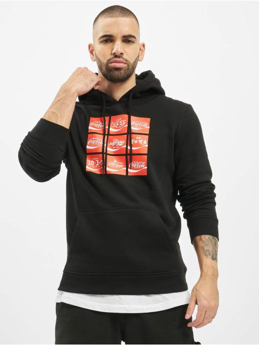 Merchcode Bluzy z kapturem Coca Cola International Logo czarny