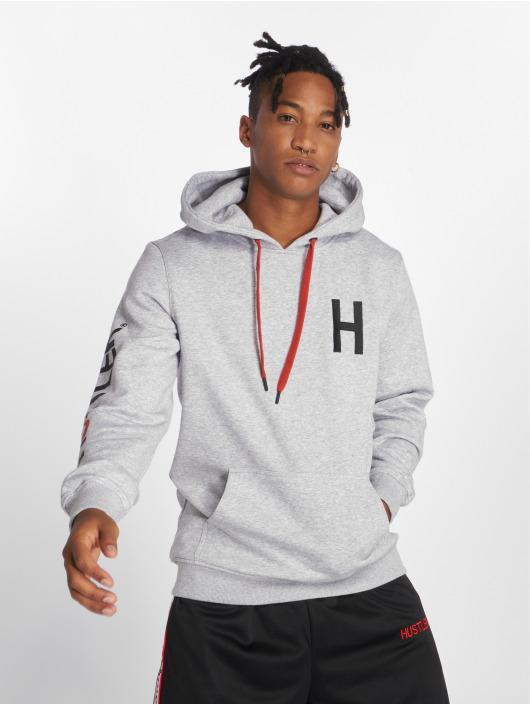 Merchcode Bluzy z kapturem Hustler Logo szary