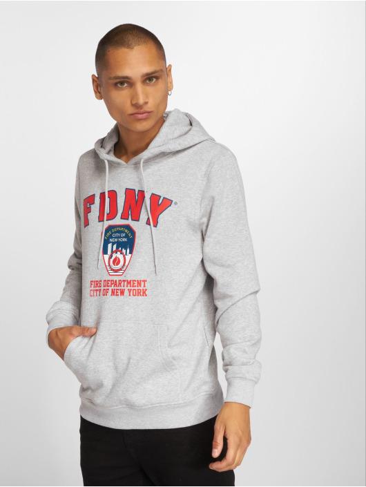 Merchcode Bluzy z kapturem Fdny Logo szary