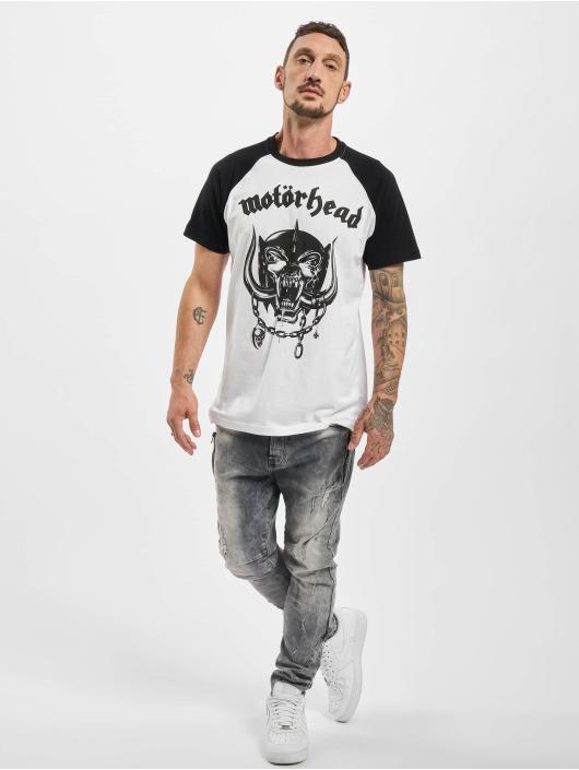 Merchcode Camiseta Motörhead Everything Louder Raglan blanco