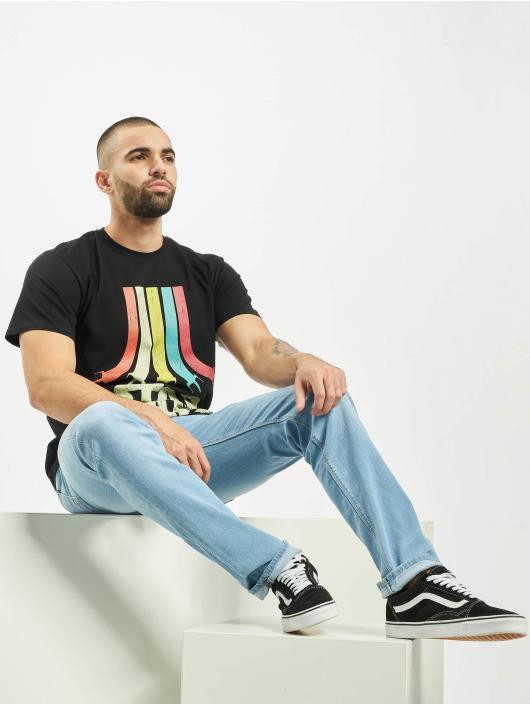 Merchcode Camiseta Star Wars Rainbow Logo negro