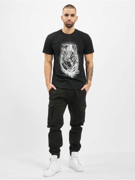 Merchcode Camiseta Black Panther Spray Headshot negro