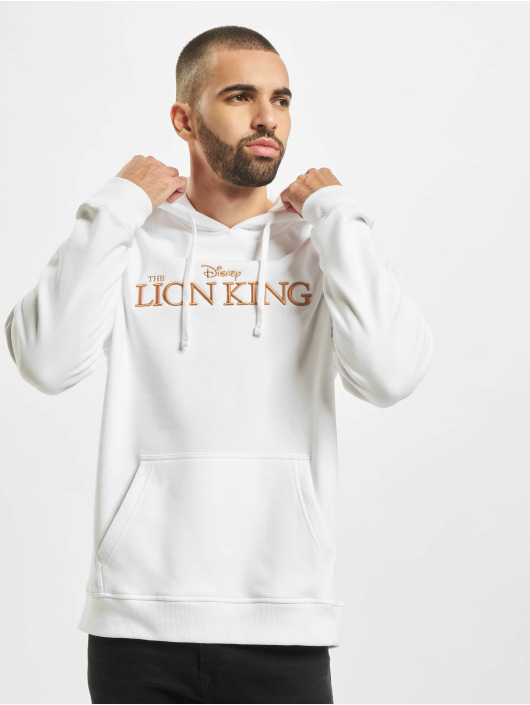 Merchcode Felpa con cappuccio Lion King Logo 3d Emb bianco