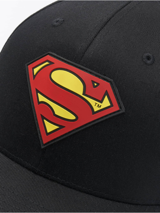 Merchcode Flexfitted Cap Supermann schwarz