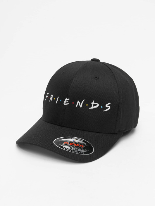 Merchcode Flexfitted Cap Friends Logo zwart