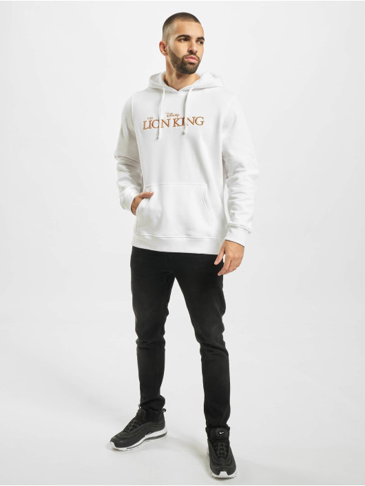 Merchcode Hoodie Lion King Logo 3d Emb white