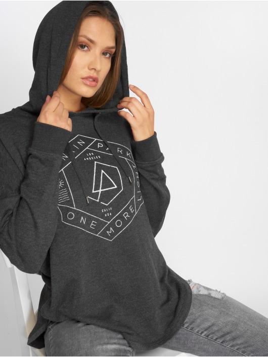 Merchcode Hoody Ladies Linkin Park Oml Oversize grau