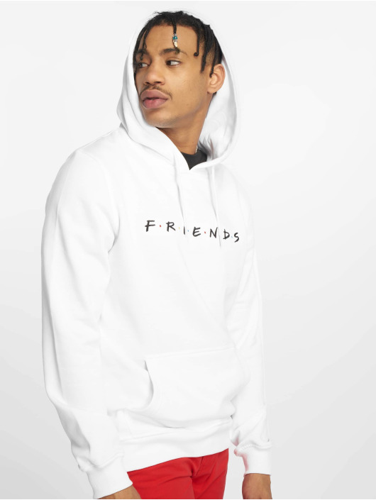 Merchcode Hoody Friends Logo Emb weiß