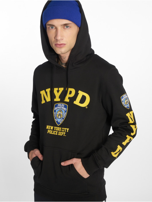 Merchcode Hoody Nypd Logo zwart