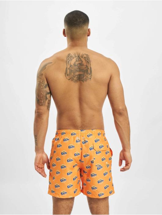 Merchcode Kąpielówki Fanta Logo All Over Print pomaranczowy