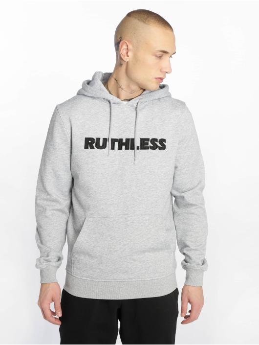 Merchcode Mikiny Ruthless Embroidery šedá