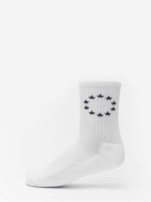 Merchcode Ponožky Euro 3-Pack biela