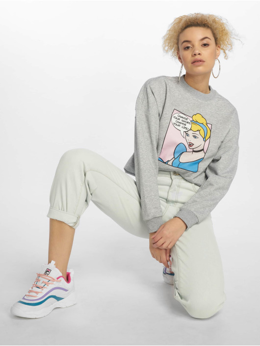 Merchcode Pullover Cinderella Change Your Shoes grau
