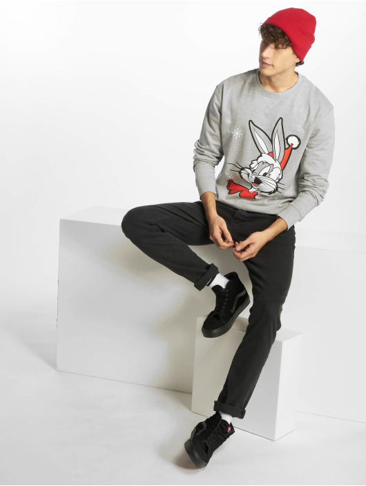 Merchcode Pullover Bugs Bunny Christmas grau