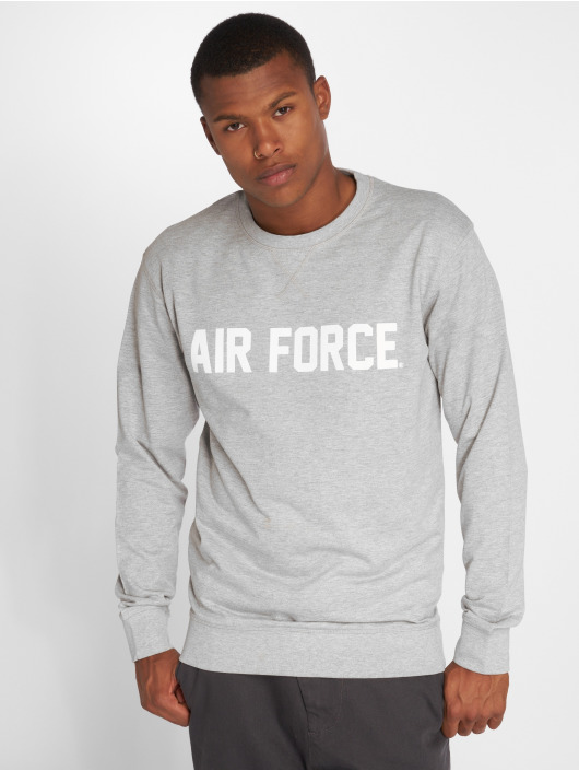 Merchcode Pullover Air Force Lettering gray