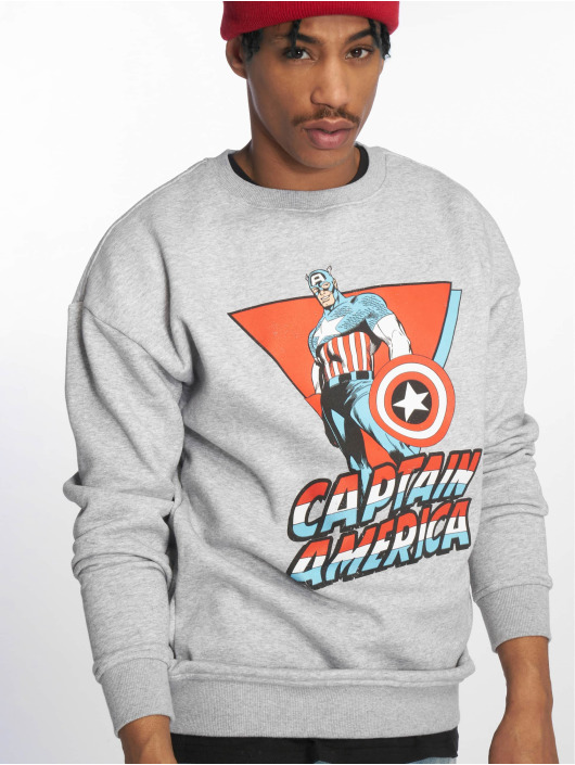 Merchcode Pullover Captain America gray