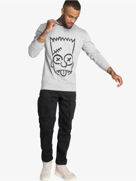 Merchcode Pullover Simpsons Graphity grey