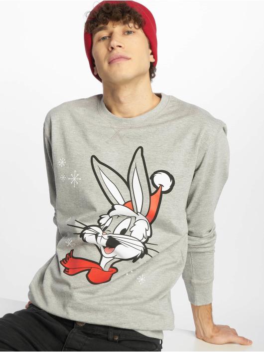 Merchcode Pullover Bugs Bunny Christmas grey