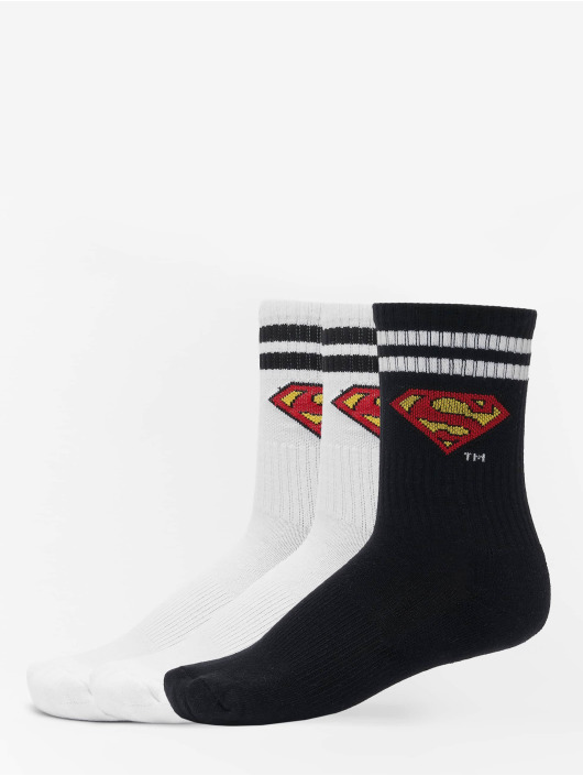 Merchcode Socks Superman 3-Pack white