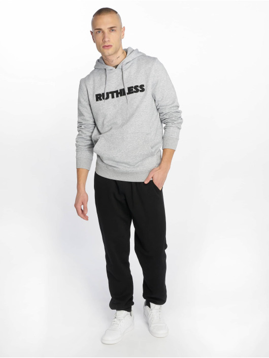 Merchcode Sweat capuche Ruthless Embroidery gris